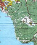 Карта района Балаклава - мыс Айя